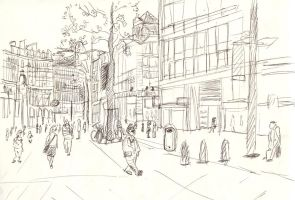 Sketchcrawl Antwerp by Yetska