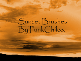 Sunset Brushes++ by Punkchikxx