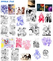 My doodle pile by HiroyValesti
