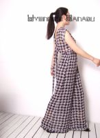 Black White Checked Jumpsuit 6 by yystudio