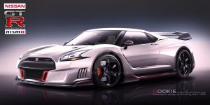 Nissan GT-R R36 concept NISMO white by rookiejeno