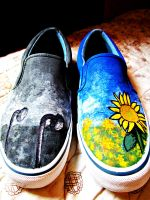 Dead-Alive Sunflower Shoes by theTightestButthole