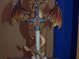 Stock-Dragon with Sword2 by Deaths-stock
