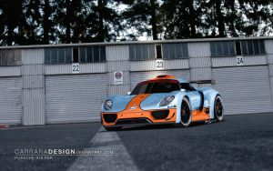 Porsche 918 RSR Gulf Livery by CarraraDesign