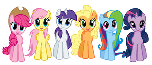 New mane 6? AKA Mane 6 colorswapped by FakemonCreation