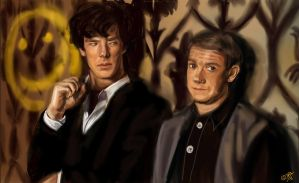 Sherlock and John - BBC by DreamyArtistRoxy3