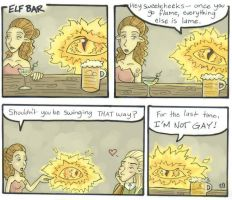 Sauron Walks into a Bar.. by HapyCow