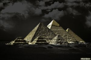 Pyramids of Lights by ahmedyousri