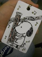 Student ID: Snoopy on Bassoon by LadyDrusilla