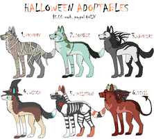 Halloween Adoptables by Curticle