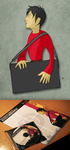 Red Guy With Portfolio by MVRH