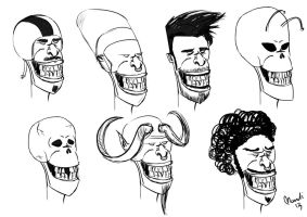 comic heads - concept by alch3mist-design