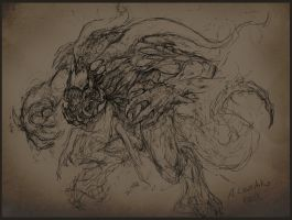 unfinished alien creature by KhezuG