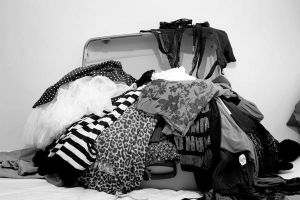 Suitcase with clothes by malsev