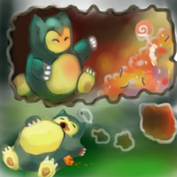 143 Snorlax by Ipaintpokemon