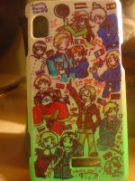 Customized Hetalia Phone Case by JustMeBeingADork