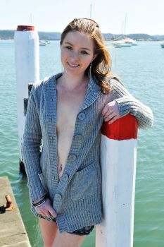 Crystal - cardigan on jetty 1 by wildplaces