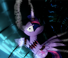 Alicorn Construct - fanfic cover by WarriorSparrow