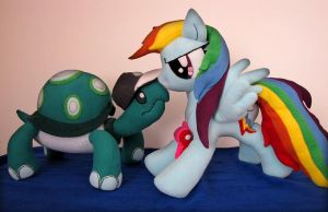 My Little Pony Rainbow Dash and Tank Plush by Margodesign-de