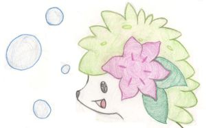 Shaymin+Bubbles by Uxie77
