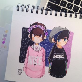 pastelDan and punkPhil by sarehkee