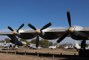 Six Turning and Four Burning (B-36 Peacemaker) by DavidKrigbaum