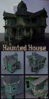 Haunted House Model by sicklilmonky
