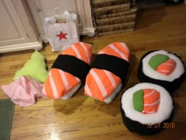Giant Sushi Pillows by PurpleTakara