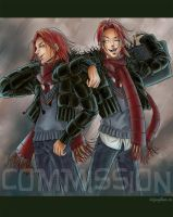 HP Art- Weasley Twins by The-Gwyllion