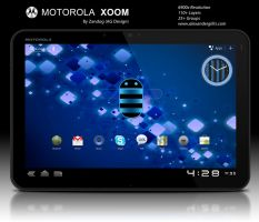 Motorola Xoom Tablet .PSD by zandog