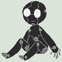 Nightblind Pixel Doll by WingsForHire