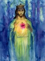 Sacred Heart of Jesus by starwilliams