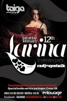 flyer for lavina party by sounddecor