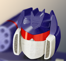Portrait of Soundwave by 0-Vla-0