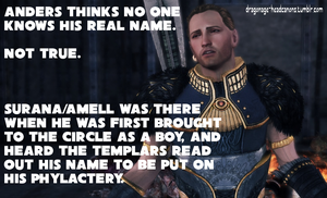Dragon Age Headcanon: Anders' Unknown Name by ParisWriter