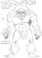 Sasquatch 10 Minute Sketch by MonkeySquadOne