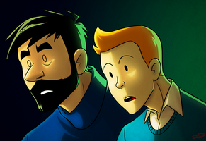 TinTin and Haddock by AnArtistCalledRed