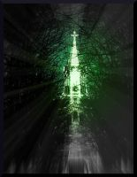 Bright Church among Dark Alley of Natures Growth by MushroomBrain