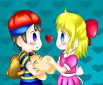 Ness x Paula - Because I love you by Gonzown