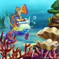 Weekly 3 - Manderian Gupy fish by Pink-Shimmer