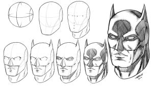 Batman Mask How to Draw Step by Step Tutorial by robertmarzullo