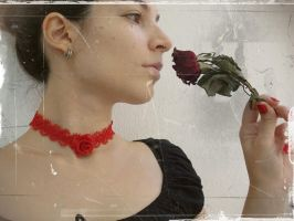 Red Rose Choker by ChrisOnly