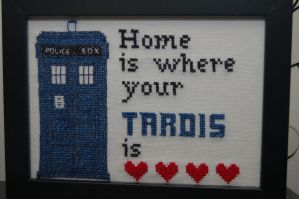 Tardis Cross-Stitch by craftymccraftersons