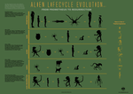 Evolution of the Alien Infographic v. 2 by mauricem
