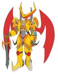 SuperiorShoutmon:The Fire Heart Of The King by SeriesArtiststarter