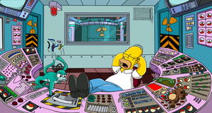 Homer at work by Fullmetal870