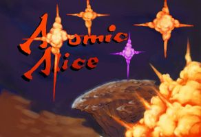 Atomic Alice Arcade Poster In Progress by MakeGamesHappen
