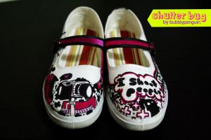 Shutterbug Shoes by bubblypenguin