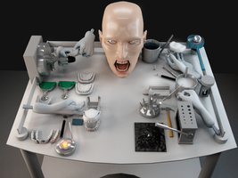 Dentists tools and scary face by Krutoy242