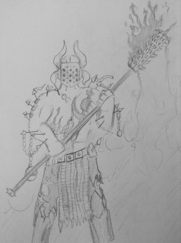 Sketch: Torchbearer of the Dark Prince by woundedskies